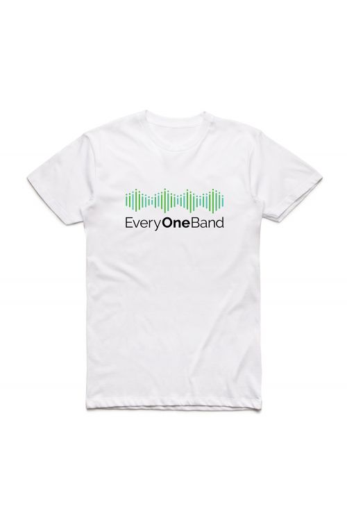 Green Logo White Tshirt & (Main Mix) Digital Download by EveryOneBand